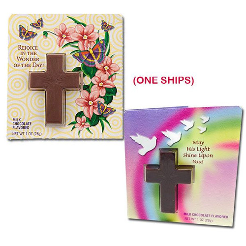 Chocolate Cross With Easter Card