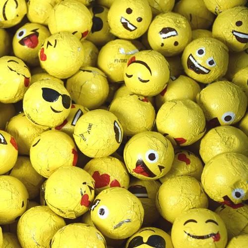 Chocolate Love Expressions Emoji Balls 24lb Bulk