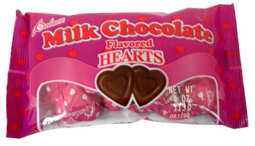 Milk Chocolate Hearts 4oz Bag