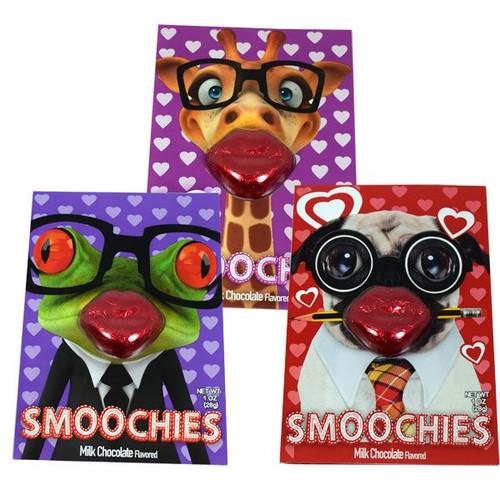 Chocolate Smoochie Lips & Card (One Ships)