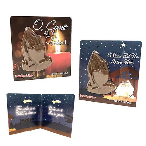 Chocolate Praying Hands Card 1.5oz