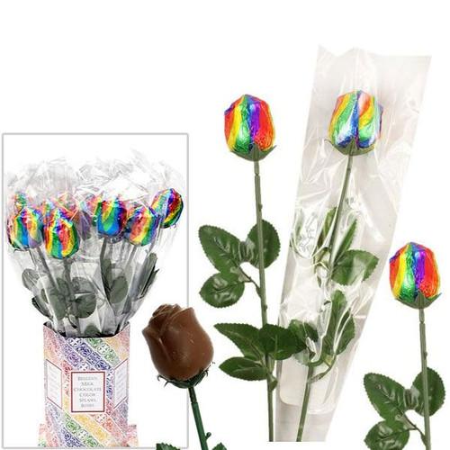 Chocolate Roses Rainbow Foil 20 Count