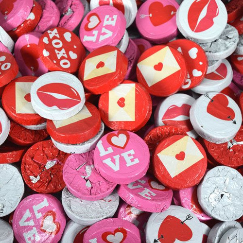Chocolate Valentine's Assorted Treats 24lb Bulk