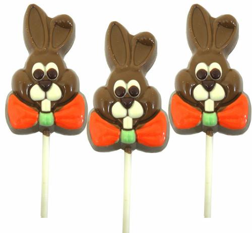 Chocolate Double Crisp Bunny Lollipop 3oz (One)