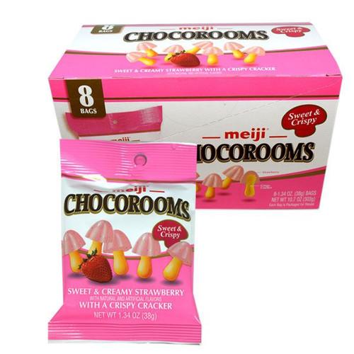 Meiji Chocorooms Strawberry 8 Count