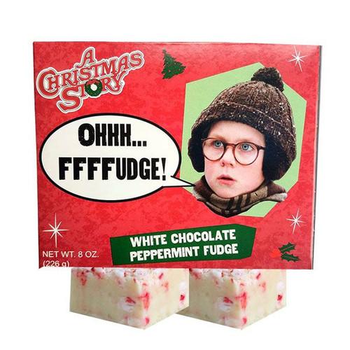 Christmas Story White Chocolate Peppermint Fudge 8oz