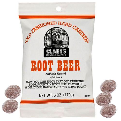 Claey's Root Beer Sanded Hard Candies 6oz bag