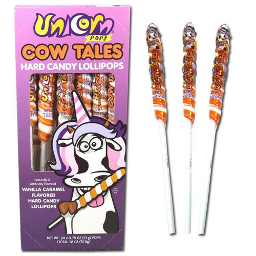 Cow Tail Unicorn Pops 24 Count