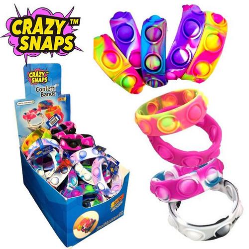 Crazy Snap Confetti Pop Bracelet 36 Count