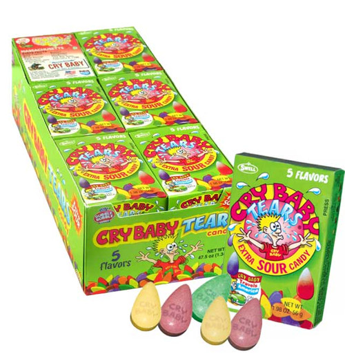 Cry Baby Tears Sour Candy 24 Count