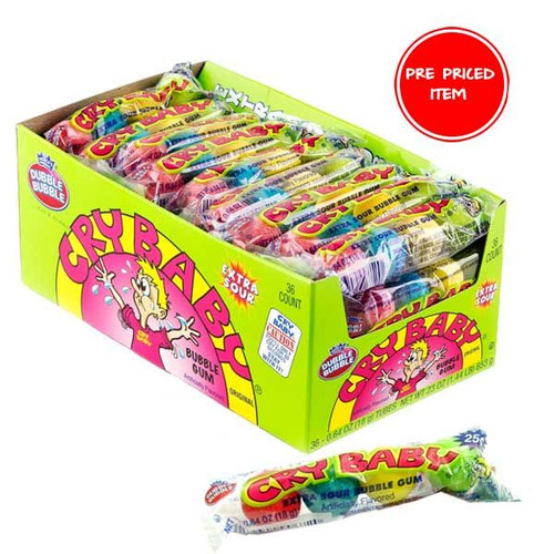 Cry Baby Sour Bubble Gum 36ct