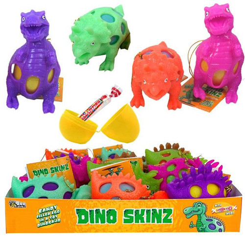 Dino Skin Eggs With Candy 12 Count
