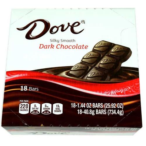 Dove Bar Dark Chocolate 18 Count