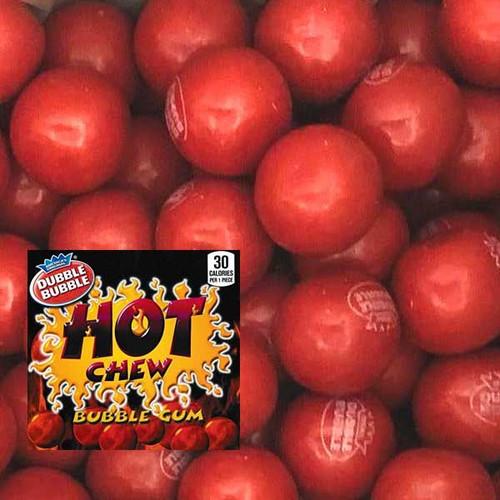 Dubble Bubble Hot Cinnamon Gumballs 850 Count Bulk