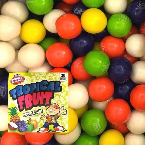 Dubble Bubble Tropical Fruit Gumballs 850 Count Bulk