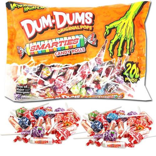 Dum Dums & Smarties Monster Mix 200 Count Bag