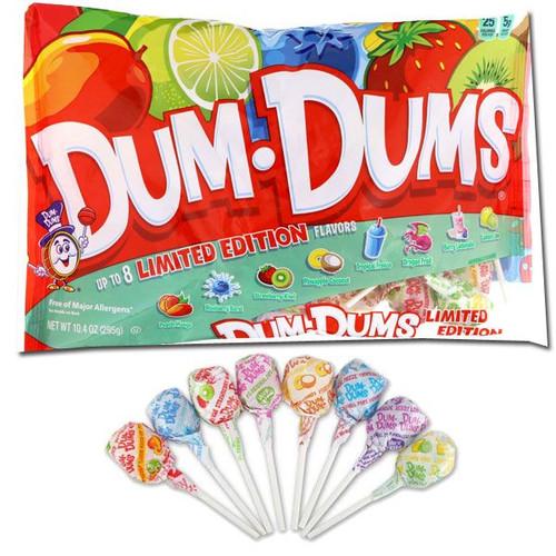 Dum Dums Tropical Lollipops 10.04oz Bag