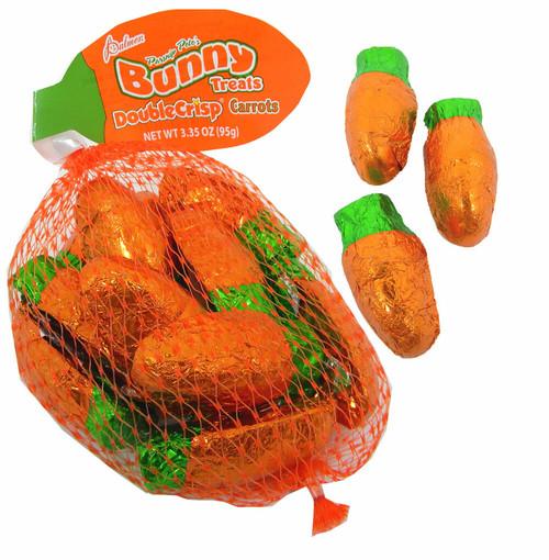 Mini Chocolate Carrots In Mesh Bag