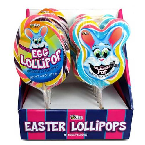Easter Lollipop Bunnies & Eggs 12 Count