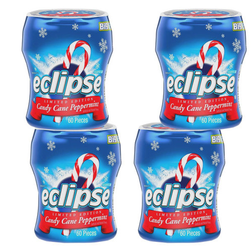 Eclipse Gum Candy Cane Peppermint Big Pack 4 Count