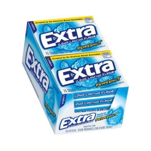Extra Sugarfree Gum Slim Pack  10pk - Peppermint