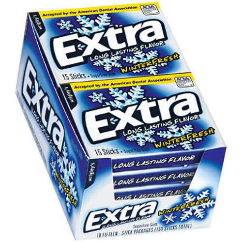 Extra Sugarfree Gum Slim Pack  10pk - Winterfresh