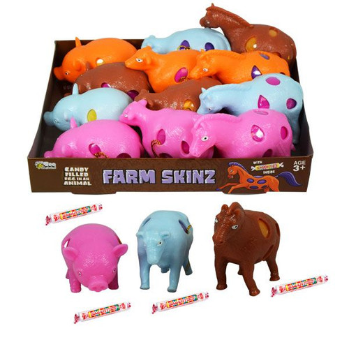 Farm Animal Skinz With Smarties 12 Count