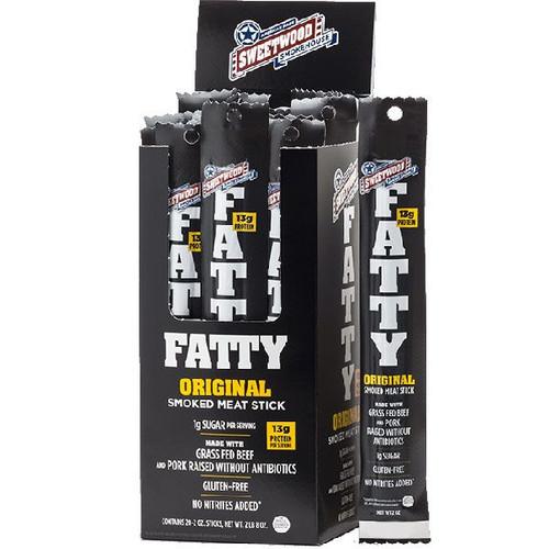Fatty's Smoked Meat Sticks Original 20 Count