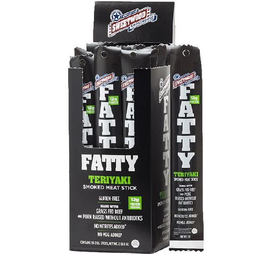 Fatty's Smoked Meat Snack Teriyaki 20 Count