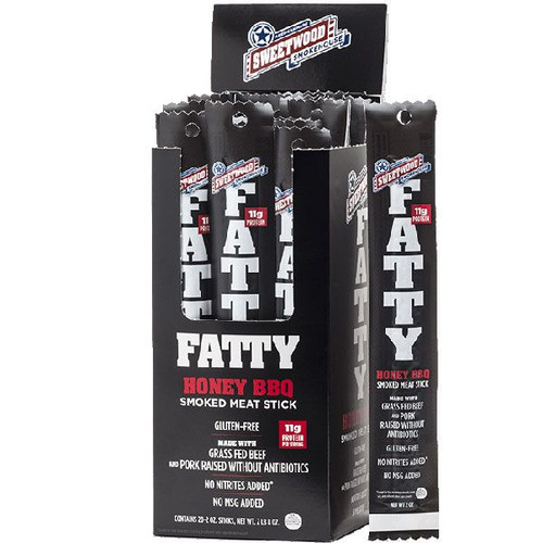 Fatty's Smoked Meat Snacks Honey BBQ 20 Count