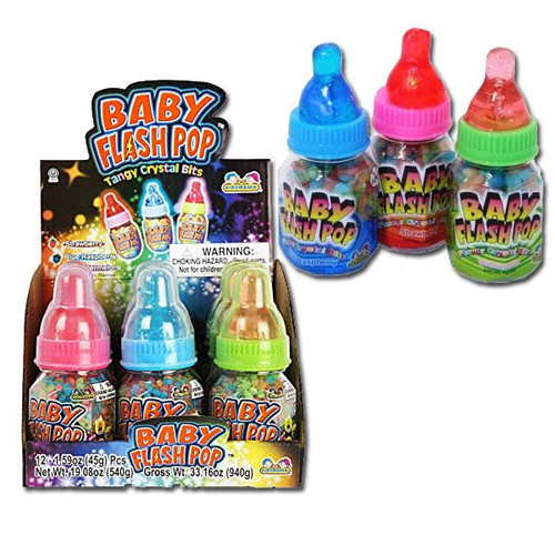 Flash Pop Baby Bottles Candy 12 Count