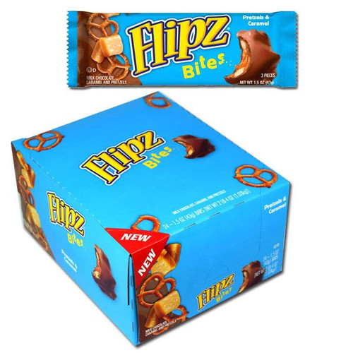 Flipz Pretzel Bites Candy Bars 24 Count
