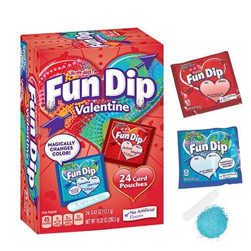 Fun Dip Valentine's Day Card Kit 24 Count