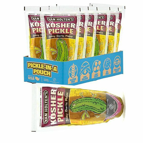 Kosher Garlic Pickles 12 Count By Van Holten's