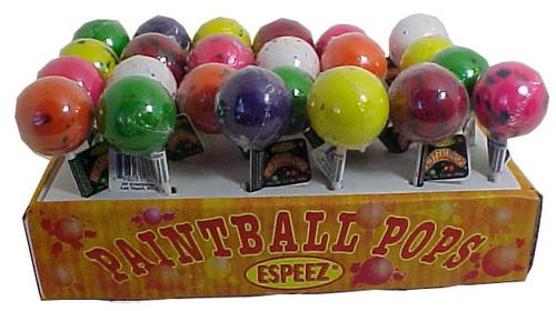 Paint Ball Giant Jaw Breaker Lollipops 24ct