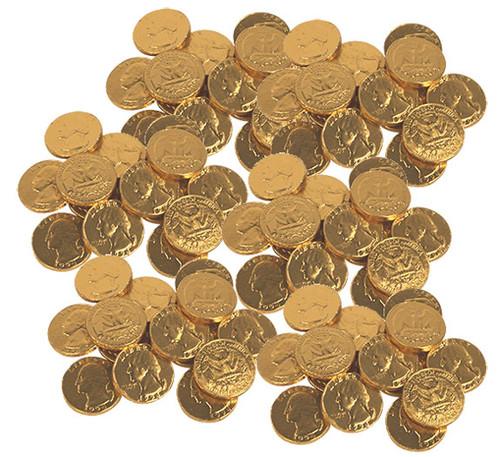 Gold Coins Chocolate Quarters 24lb Bulk
