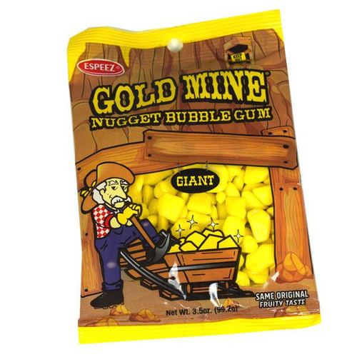 Gold Mine Nuggets Gum 3.5oz Bag