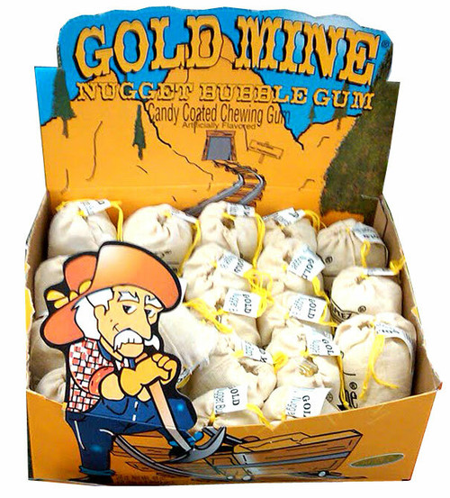 Gold Mine; Gold Rocks Nugget Bubble Gum 24ct