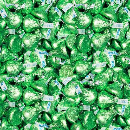 Hershey's Kisses Lite Green 5lb Bag