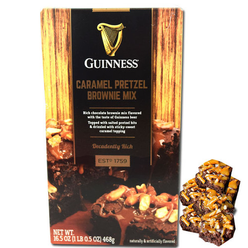Guinness Caramel Pretzel Brownie Mix