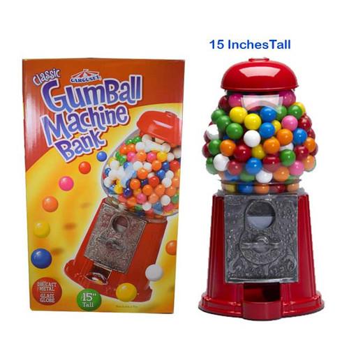 "Gumball Machine Bank 15"" Tall"