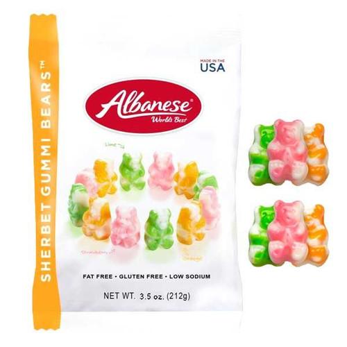 Gummi Sherbert Bears 3.5z Bag