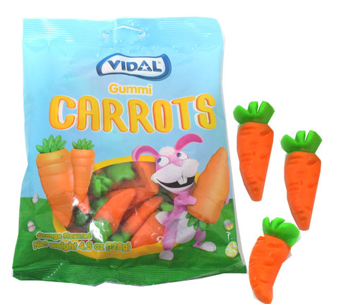 Gummi Carrots Easter Candy 4.5oz Bag