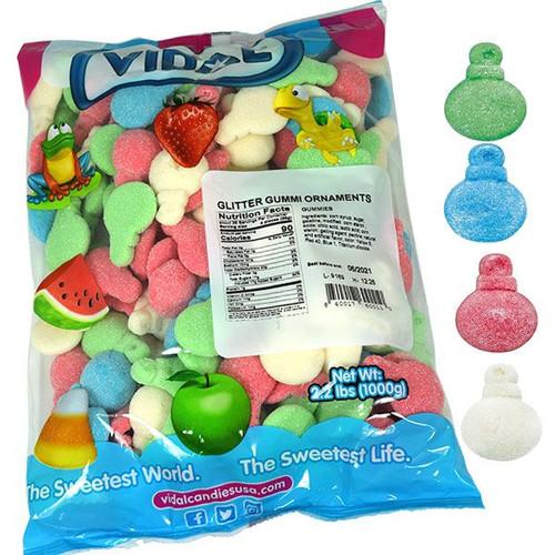 Gummi Glitter Ornaments 2.2lb Bulk