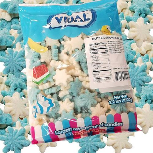 Gummi Snowflakes Glitter 2.2lb Bag