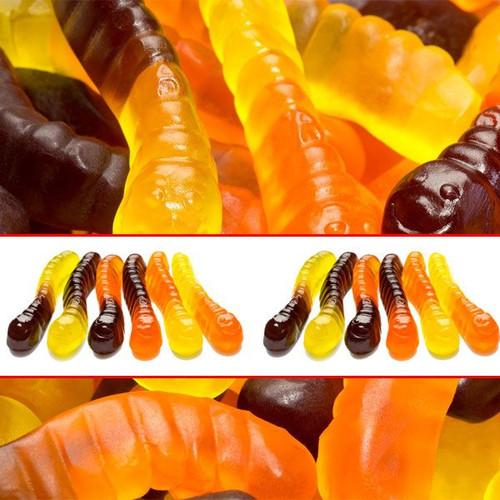 Gummi Mini Halloween Worms 5lb Bulk