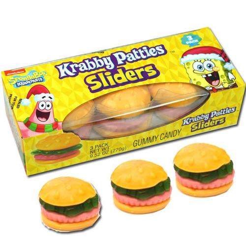 Sponge Bob Krabby Patty Sliders 3 Pack