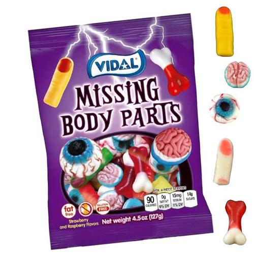 Gummi Missing Body Parts 4.5oz Bag