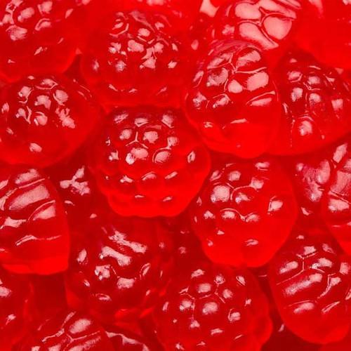 Gummi Raspberry Berry Red 5lb Bulk
