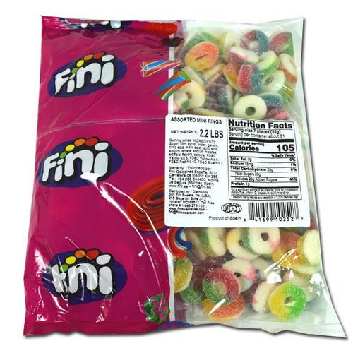 Gummi  Assorted Mini Rings 2.2lb Bag (Fini)